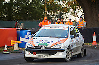 #54 Phil Bruce / Tom Roberts Peugeot 206 RAFMSA RAF Sports Lotteryduring Neil Howard Memorial Stage Rally, and opening round of the 2015 Motorsport News Rally Championship.  at Oulton Park, Little Budworth, Cheshire, United Kingdom. November 07 2015. World Copyright Peter Taylor. Copy of publication required for printed pictures.  Every used picture is fee-liable. http://archive.petertaylor-photographic.co.uk