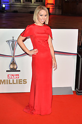 © Licensed to London News Pictures. 14/12/2016. KATIE PIPER attends The Sun newspaper Millies Military Awards 2016 at Guildhall <br />