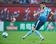 GUANGZHOU, CHINA - MAY 03:  Milos Dimitrijevic of Sydney FC in action during the AFC Asian Champions League match between Guangzhou Evergrande FC and Sydney FC at Tianhe Stadium on May 3, 2016 in Guangzhou, China.  (Photo by Aitor Alcalde Colomer/Getty Images)