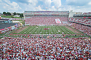 FAYETTEVILLE, AR - SEPTEMBER 5:  Donald W. Reynolds Stadium before a game between the Arkansas Razorbacks and the UTEP Miners at Razorback Stadium on September 5, 2015 in Fayetteville, Arkansas.  The Razorbacks defeated the Miners 48-13.  (Photo by Wesley Hitt/Getty Images) *** Local Caption ***