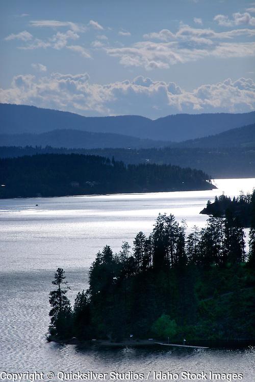 Idaho, Coeur dAlene, Higgins PT. and Lake looking west