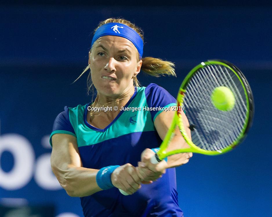 Svetlana Kuznetsova (RUS)<br /> <br /> Tennis - Dubai Tennis Championships 2016 -  WTA -  Dubai Duty Free Tennis Stadium - Dubai  -  - United Arab Emirates  - 15 February 2016.