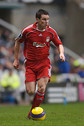 Newcastle, England - Saturday, February 10, 2007: Liverpool's Steve Finnan in action against Newcastle United during the Premiership match at St James' Park. (Pic by David Rawcliffe/Propaganda)