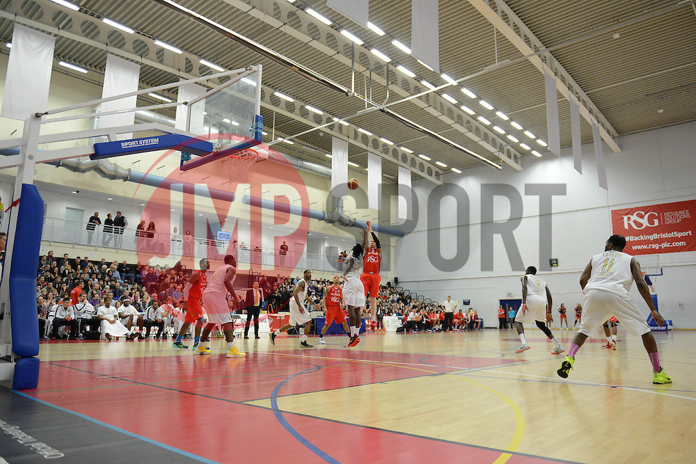 A general view of the SGS Wise Campus during the Bristol Flyers game v London Lions - Photo mandatory by-line: Dougie Allward/JMP - Mobile: 07966 386802 - 28/03/2015 - SPORT - Basketball - Bristol - SGS Wise Campus - Bristol Flyers v London Lions - British Basketball League