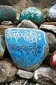 Nepal - Tibetan Mani Prayer Stones