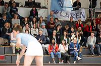 HAMBURG  (Ger) - Rotweiss Wettingen (Sui)  v  MHC Laren (Ned).  foto:  supporters Laren    , Eurohockey Indoor  Club Cup 2019 Women . WORLDSPORTPICS COPYRIGHT  KOEN SUYK