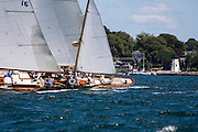 Dorade sailing in the Newport Classic Yacht Regatta.