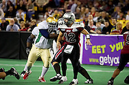 4/12/2007 - The Alaska Wild's David Short (12) in the first professional football game in Alaska.