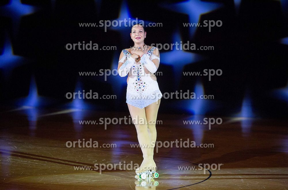 Lucija Mlinaric performs during special artistic roller skating event when Lucija Mlinaric of Slovenia, World and European Champion ended her successful sports career, on November 7, 2015 in Rence, Slovenia. Photo by Vid Ponikvar / Sportida