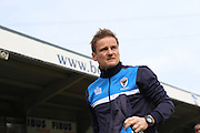 AFC Wimbledon Manager Neal Ardley prior the Sky Bet League 2 match between Wycombe Wanderers and AFC Wimbledon at Adams Park, High Wycombe, England on 2 April 2016. Photo by Stuart Butcher.