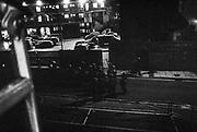 Police gathered on the street, Scumoween, Whitgift Street, Lambeth, London, UK, 31 October, 2015