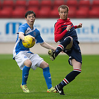 St Johnstone v Turriff Utd FC.. 02.08.16  IRN-BRU CUP 1st Round  <br />David Booth and Cameron Thomson<br />Picture by Graeme Hart.<br />Copyright Perthshire Picture Agency<br />Tel: 01738 623350  Mobile: 07990 594431