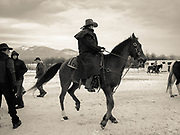 Chuck Allen from Trailhead Supply on his horse