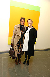 Left to right, Artist TRACEY EMIN and SAM TAYLOR-WOOD at an exhibition of leading artist Ellsworth Kelly at the Serpentine Gallery, Kensington Gardens, London followed by a dinner at the Riverside Cafe, London on 17th March 2006.<br />