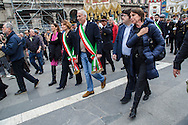 Milano, 25 aprle 2015. 70esimo anniversario della Liberazione. Il Sindaco di Milano Giuliano Pisapia.