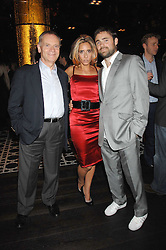 Left to right, LORD ARCHER, TARA ARCHER and the HON.JAMES ARCHER at the opening of Marco the new Marco Pierre White restaurant at Stamford Bridge, Fulham Road, London on 25th September 2007.<br />