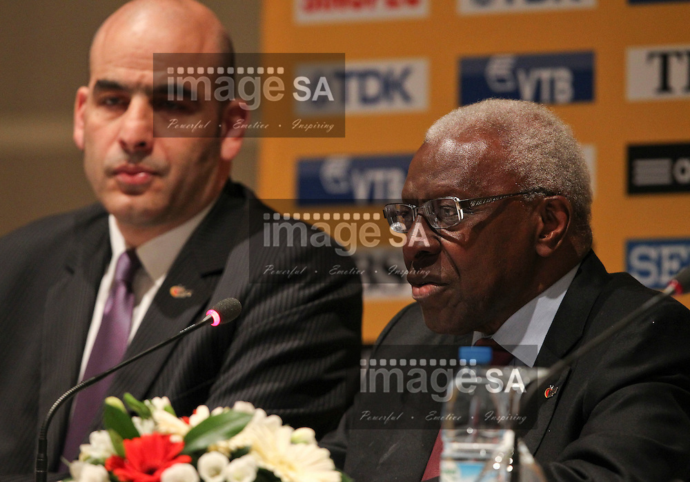ISTANBUL, TURKEY: Thursday 8 March 2012, IAAF President, Lamine Diack, during the IAAF/LOC Press Conference held at the Turkish Olympic House. The IAAF World Indoor Championships at the Atakoy Athletics Arena takes place from 9-11 March 2011. .Photo by Roger Sedres/ImageSA