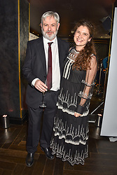 28 January 2020 - Jonathan Coe - Costa Novel Award winner and Olivia Mead at the Costa Book Awards 2019 held at Quaglino's, 16 Bury Street, London.<br /> <br /> Photo by Dominic O'Neill/Desmond O'Neill Features Ltd.  +44(0)1306 731608  www.donfeatures.com