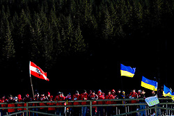 Austrian fans during the Men 20 km Individual of the e.on IBU Biathlon World Cup on Thursday, December 16, 2010 in Pokljuka, Slovenia. The fourth e.on IBU World Cup stage is taking place in Rudno Polje - Pokljuka, Slovenia until Sunday December 19, 2010.  (Photo By Vid Ponikvar / Sportida.com)