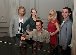 "© Licensed to London News Pictures. 16/07/2012. London, England. L-R: Jonathan Ansell, Emma Williams, Gareth Gates, Rachael Wooding, Daniel Boys. On Thursday, 19th July, Gareth Gates, Jonathan Ansell, Daniel Boys, Emma Williams and Rachael Wooding perform in ""Momentous Musicals"", a brand new concert celebration showcasing ballads and songs from musicals for one night only at the New Wimbledon Theatre, London. The show is directed by John Garfield-Roberts with musical direction by John Dyer. Photo credit: Bettina Strenske/LNP"