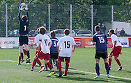 SO Austria (violet) compete with SO Poland (white) during the 2013 Special Olympics European Unified Football Tournament in Warsaw, Poland.<br /> <br /> Poland, Warsaw, June 06, 2012<br /> <br /> Picture also available in RAW (NEF) or TIFF format on special request.<br /> <br /> For editorial use only. Any commercial or promotional use requires permission.<br /> <br /> <br /> Mandatory credit:<br /> Photo by © Adam Nurkiewicz / Mediasport
