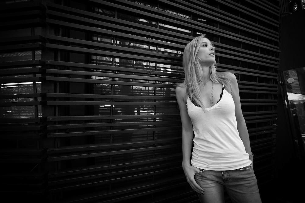 Sao Paulo_SP, Brasil.<br /> <br /> Retrato da modelo, apresentadora e atriz Gianne Albertoni, no Octavio Cafe, na zona sul de Sao Paulo.<br /> <br /> Portrait of model, presenter and actress Gianne Albertoni, in Octavio Cafe, in Sao Paulo.<br /> <br /> Foto: RICARDO NOGUEIRA / NITRO