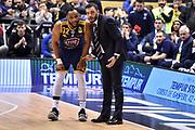 Cotton Tekele Galbiati Paolo<br /> FIAT Torino - Grissin Bon Reggio Emilia<br /> Lega Basket Serie A 2018-2019<br /> Torino 03/02/2019<br /> Foto M.Matta/Ciamillo & Castoria
