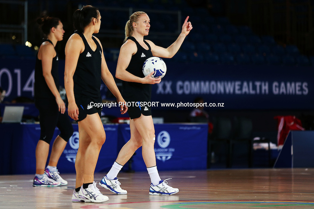 Laura Langman of the Silver Ferns during a Netball training session. 2014 Glasgow Commonwealth Games. Scottish Exhibition Conference Centre, Glasgow, Scotland. Wednesday 23rd July 2014. Photo: Anthony Au-Yeung / photosport.co.nz