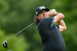 May 30, 2019 - Dublin, OH, U.S. - DUBLIN, OH - MAY 30: Pat Perez plays his shot from the 18th tee during the Memorial Tournament presented by Nationwide at Muirfield Village Golf Club on May 30, 2018 in Dublin, Ohio. (Photo by Adam Lacy/Icon Sportswire) (Credit Image: © Adam Lacy/Icon SMI via ZUMA Press)