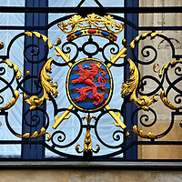 Lesser Coat of Arms in Luxembourg City, Luxembourg <br />