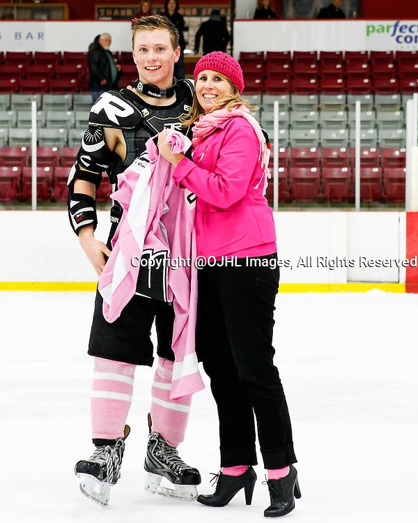 ORANGEVILLE, ON - Nov 1, 2014 : Ontario Junior Hockey League game action between Wellington and Orangeville,<br /> (Photo by Brian Watts / OJHL Images)