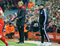 LIVERPOOL, ENGLAND - Sunday, December 13, 2015: Liverpool's manager Jürgen Klopp during the Premier League match against West Bromwich Albion at Anfield. (Pic by James Maloney/Propaganda)