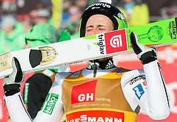 Winner Peter Prevc (SLO) kissing his skis when celebrates after Ski Flying Hill Individual Competition at Day 4 of FIS Ski Jumping World Cup Final 2016, on March 20, 2016 in Planica, Slovenia. Photo by Vid Ponikvar / Sportida
