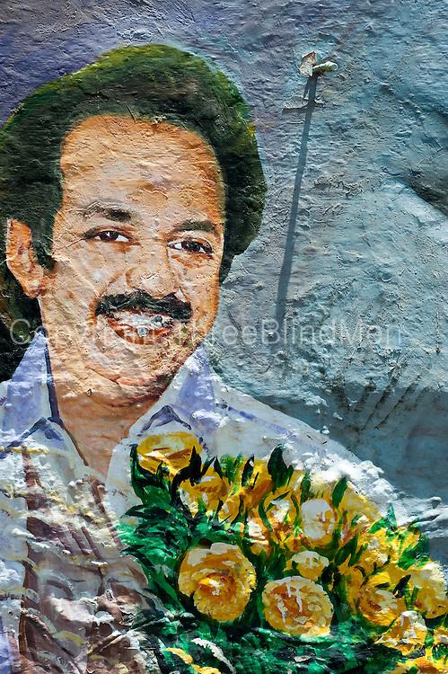 Wall mural. Politician.