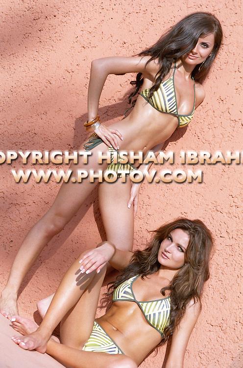Two Sexy young Russian women in bikini, Cabo San Lucas, Mexico