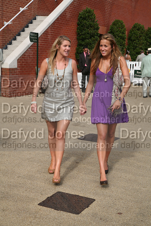 Thea Midgley and Sophie Street, Glorious Goodwood. 2 August 2007.  -DO NOT ARCHIVE-© Copyright Photograph by Dafydd Jones. 248 Clapham Rd. London SW9 0PZ. Tel 0207 820 0771. www.dafjones.com.