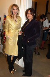 Left to right, ALLEGRA HICKS and SOLANGE AZAGURY-PARTRIDGE at 'A Night at Crumbland' an evening to celebrate the launch of the Stella McCartnry and Robert Crumb collaboration aand the publication of the R.Crumb handbook, held at Stella McCartney, 30 Bruton Street, London W1 on 17th March 2005.<br /><br />NON EXCLUSIVE - WORLD RIGHTS