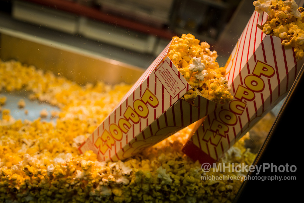 Carnival food popcorn in boxes at Haynes-Apperson Festival - Kokomo, In