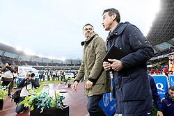 09.04.2016, Estadio de Anoeta, San Sebastian, ESP, Primera Division, Real Sociedad vs FC Barcelona, 32. Runde, im Bild FC Barcelona's coach Luis Enrique Martinez (l) with his second Juan Carlos Unzue // during the Spanish Primera Division 32th round match between Real Sociedad and FC Barcelona at the Estadio de Anoeta in San Sebastian, Spain on 2016/04/09. EXPA Pictures © 2016, PhotoCredit: EXPA/ Alterphotos/ Acero<br /> <br /> *****ATTENTION - OUT of ESP, SUI*****