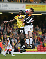 Photo: Lee Earle.<br /> Watford v Hull. Coca Cola Championship. 30/04/2006. Hull's Ryan France (R) clashes with Al Bangura.