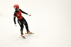 February 8, 2019 - Torino, Italia - Foto LaPresse/Nicolò Campo .8/02/2019 Torino (Italia) .Sport.ISU World Cup Short Track Torino - 1000 meter Ladies Heats.Nella foto: Jinyu Li..Photo LaPresse/Nicolò Campo .February 8, 2019 Turin (Italy) .Sport.ISU World Cup Short Track Turin - 1000 meter Ladies Heats.In the picture: Jinyu Li (Credit Image: © Nicolò Campo/Lapresse via ZUMA Press)