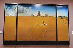 Salvador Dali, Landscape with a Girl Skipping Rope, Scottish National Gallery of Modern Art  (Modern One) Surreal Encounters Collection, Edinburgh, 2nd June 2016, <br /> (c) Brian Anderson   Edinburgh Elite media