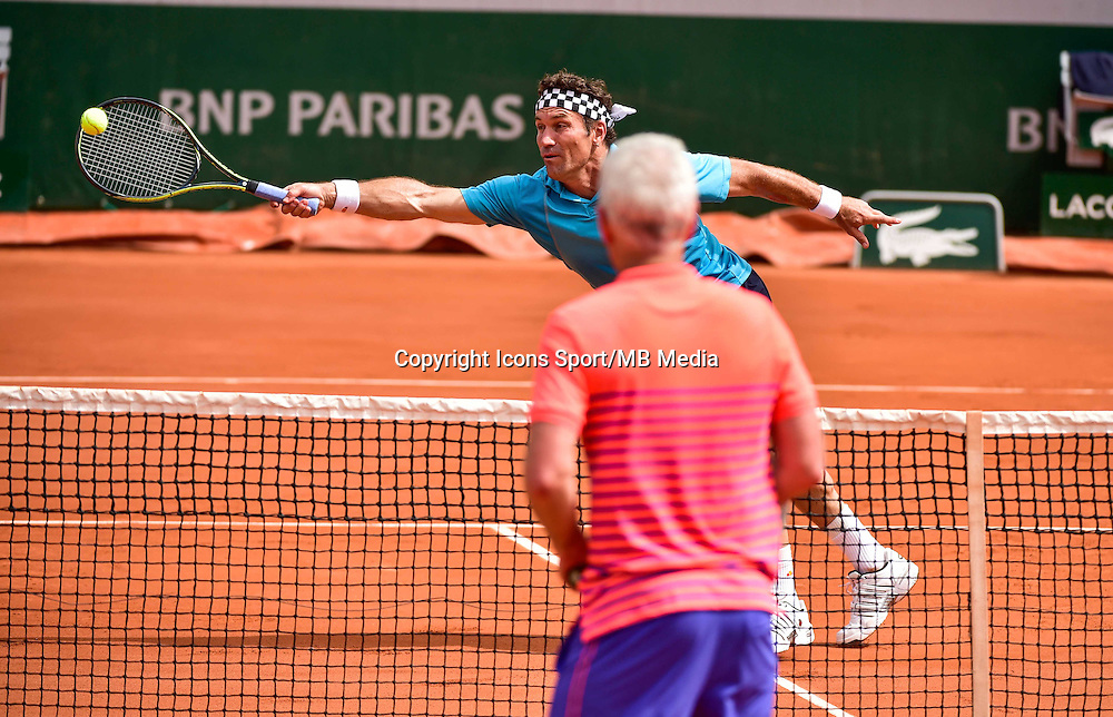 Pat CASH / John McENROE - 03.06.2015 - Jour 11 - Roland Garros 2015<br />Photo : Dave Winter / Icon Sport