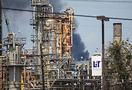 Flare at Exxon's Refinery in Beaumont, Texas  after Hurricane Harvey.