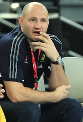 Head coach of of Sweden Ola Lindgren during 21st Men's World Handball Championship 2009 Main round Group I match between National teams of France and Sweden, on January 24, 2009, in Arena Zagreb, Zagreb, Croatia.  (Photo by Vid Ponikvar / Sportida)