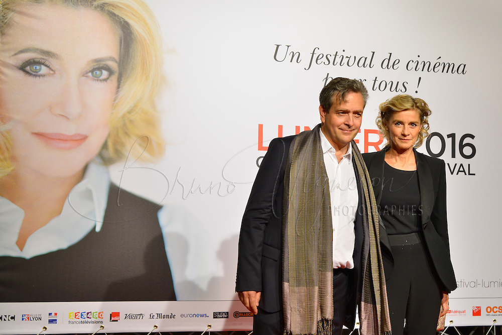 Eric de Chassey &amp; Anne Consigny<br /> Lyon 8 oct 2016 - Festival Lumi&egrave;re 2016 - C&eacute;r&eacute;monie d&rsquo;Ouverture<br /> 8th Film Festival Lumiere In Lyon : Opening Ceremony