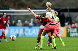 Charlie Wellings of Bristol City is challenged by Steph Houghton of Manchester City Women - Mandatory by-line: Ryan Hiscott/JMP - 24/11/2019 - FOOTBALL - Stoke Gifford Stadium - Bristol, England - Bristol City Women v Manchester City Women - Barclays FA Women's Super League