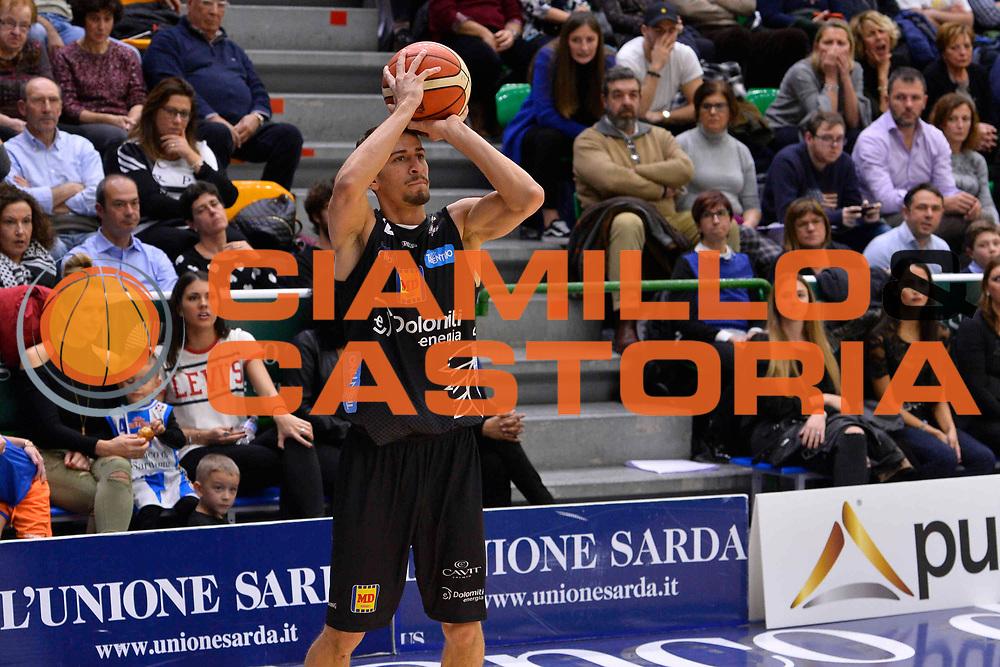 SASSARI 07 GENNAIO 2018<br /> Banco di Sardegna Dinamo Sassari - Dolomiti Energia Aquila Trento<br /> Legabasket Serie A LBA PosteMobile 2017/2018<br /> NELLA FOTO Diego Flaccadori<br /> FOTO CIAMILLO - Luigi Canu