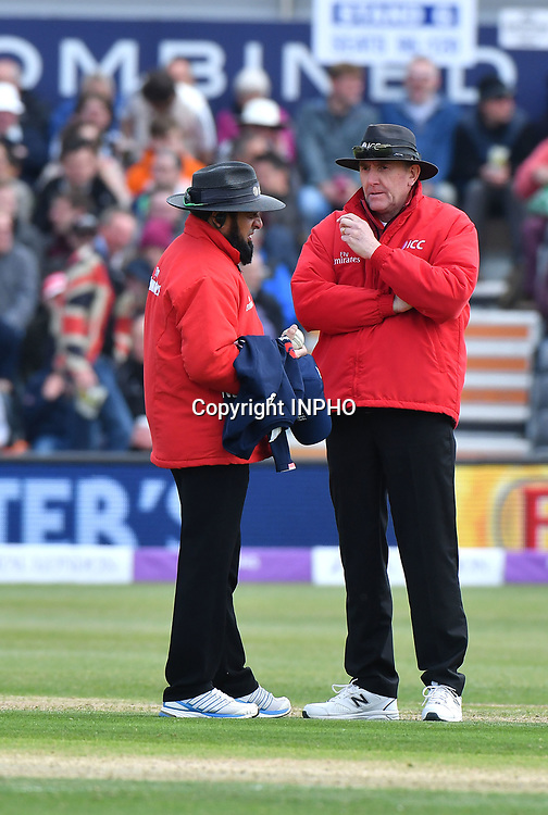 1st One Day International, Bristol Cricket Ground, England 5/5/2017<br /> England vs Ireland<br /> Umpires Aleem Dar and Rob Bailey<br /> Mandatory Credit &copy;INPHO/Presseye/Rowland White