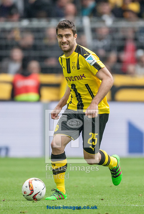 Sokratis of Borussia Dortmund during the Bundesliga match at Signal Iduna Park, Dortmund<br /> Picture by EXPA Pictures/Focus Images Ltd 07814482222<br /> 14/05/2016<br /> ***UK &amp; IRELAND ONLY***<br /> EXPA-EIB-160515-0071.jpg